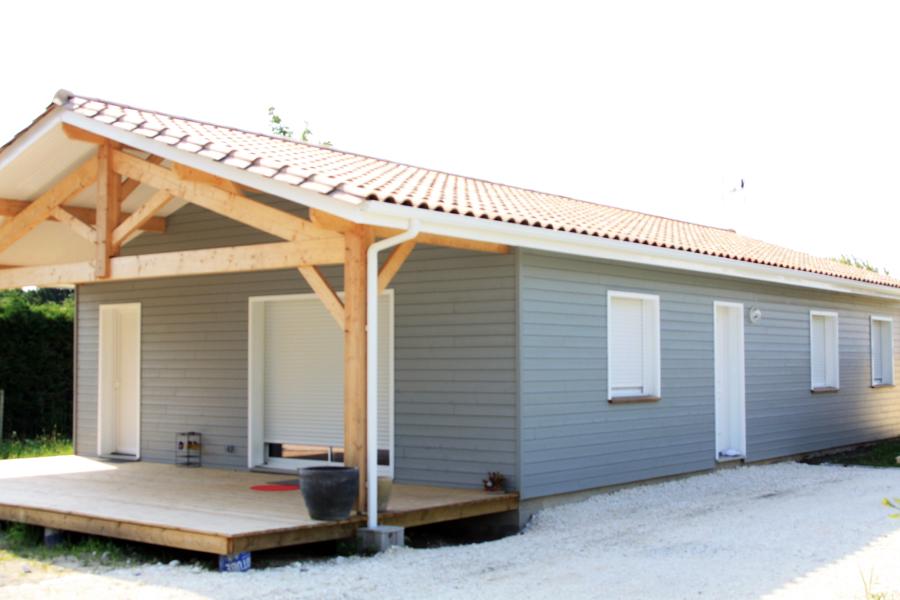 R alisations acobat for Maison en bois 100m2