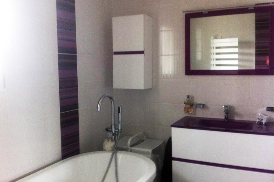 R alisations acobat - Salle de bain violet ...